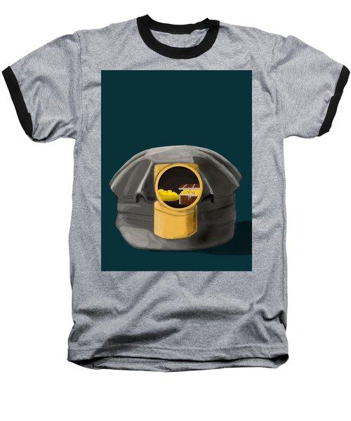 A Treasure Inside The Miners Helmet Baseball T-Shirt by Keshava Shukla