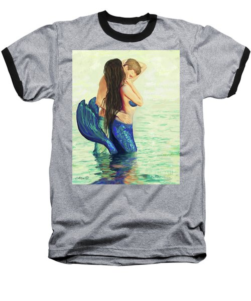 Baseball T-Shirt featuring the painting A Treasured Love by Leslie Allen
