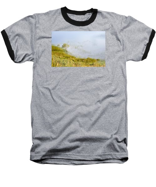 Baseball T-Shirt featuring the photograph A Tree In The Lake Of The Scottish Highland by Dubi Roman