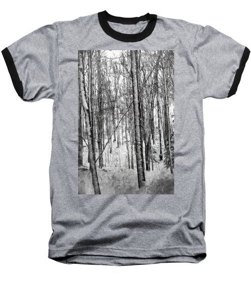 A Tree's View In Winter Baseball T-Shirt