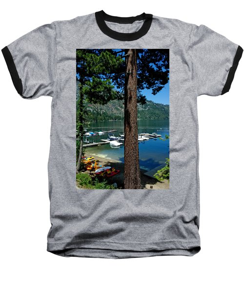 A Trees View Of Fallen Leaf Lake Baseball T-Shirt