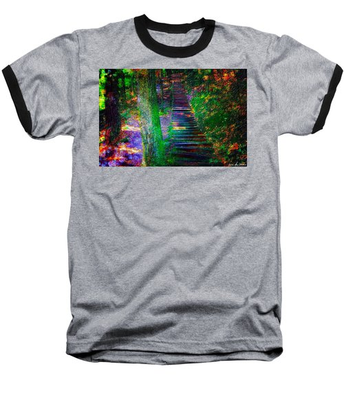 A Trek Baseball T-Shirt by Iowan Stone-Flowers