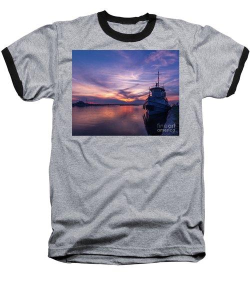 A Tugboat Sunset Baseball T-Shirt