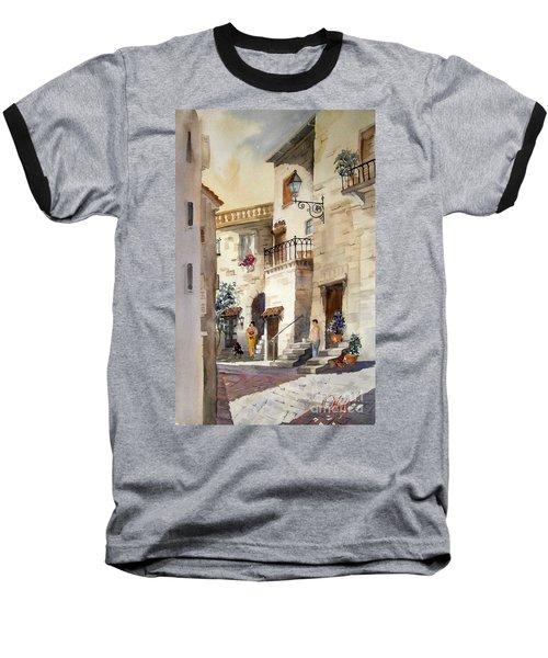 A Tuscan Street Scene Baseball T-Shirt