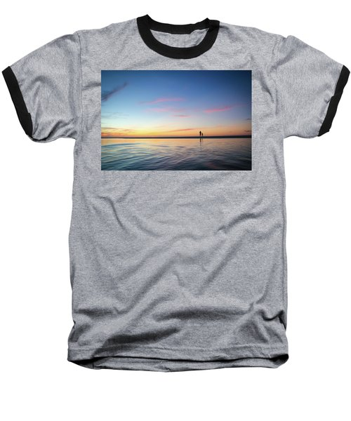 A Twilight Beach Walk Baseball T-Shirt