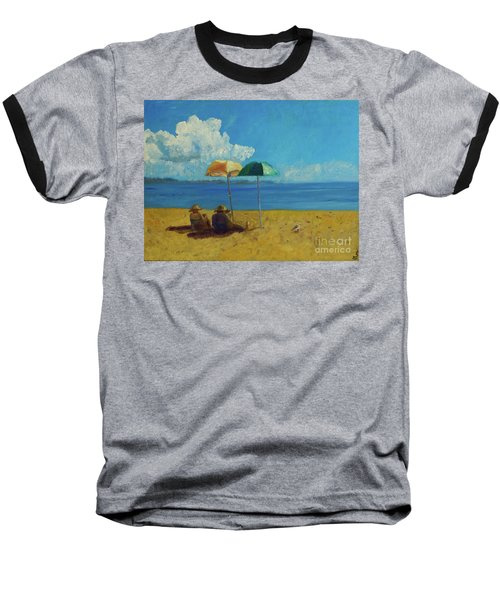 Baseball T-Shirt featuring the painting A Vacant Lot - Byron Bay by Paul McKey