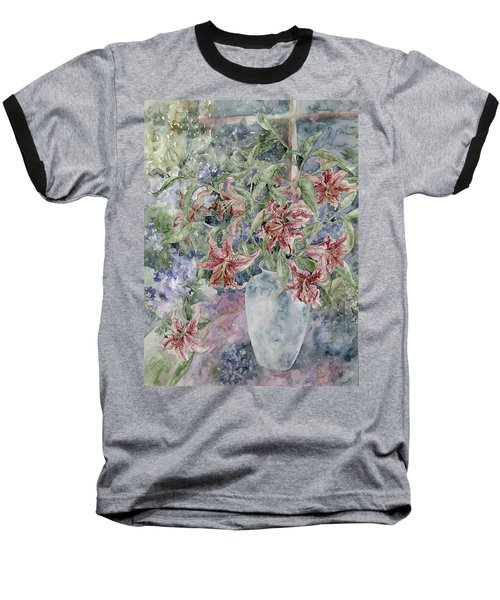 A Vase Of Lilies Baseball T-Shirt