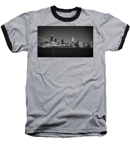 Baseball T-Shirt featuring the photograph A View From Across The Hudson by Eduard Moldoveanu