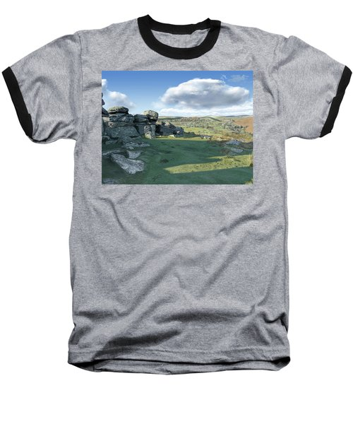 A View From Combestone Tor Baseball T-Shirt