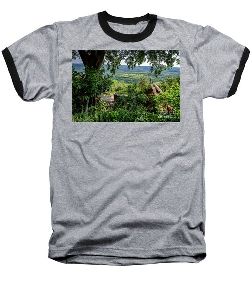 A View From Groznjan Of The Istrian Hill Town Countryside, Istria, Croatia Baseball T-Shirt