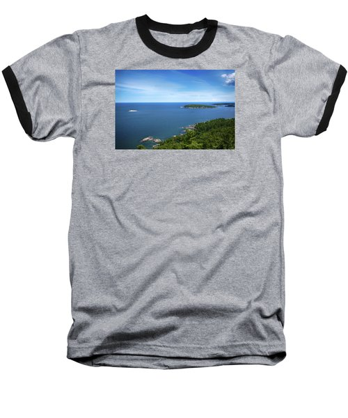 A View From Sugarloaf Mountain Baseball T-Shirt by Dan Hefle