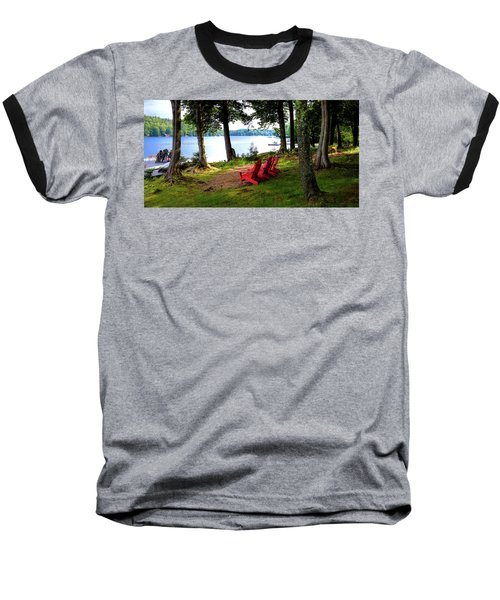 Baseball T-Shirt featuring the photograph A View Of Big Moose Lake by David Patterson