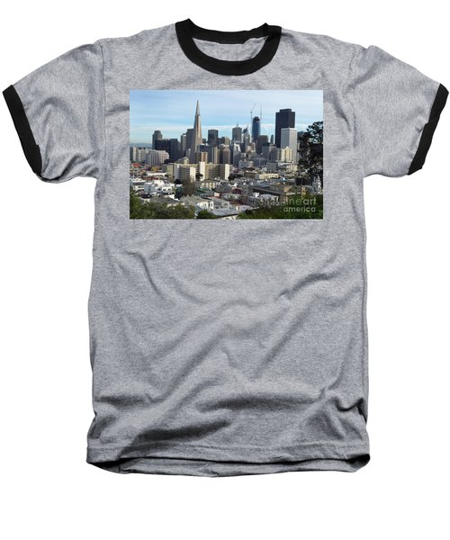 Baseball T-Shirt featuring the photograph A View Of Downtown From Nob Hill by Steven Spak