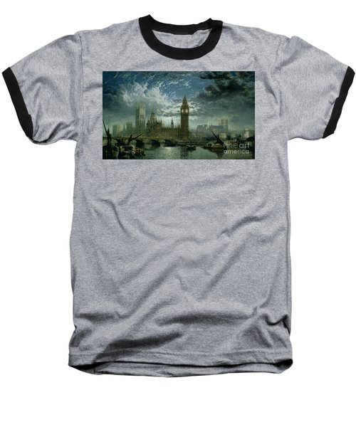 A View Of Westminster Abbey And The Houses Of Parliament Baseball T-Shirt by John MacVicar Anderson