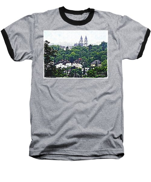 A View Of Wiesbaden Baseball T-Shirt by Sarah Loft