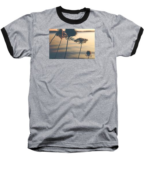 A Vintage Sunset Baseball T-Shirt by Rebecca Davis