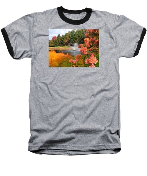 Baseball T-Shirt featuring the photograph A Vision Of Autumn by Teresa Schomig