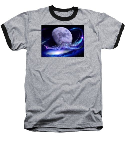 A Visit From Venus Baseball T-Shirt by Glenn Feron