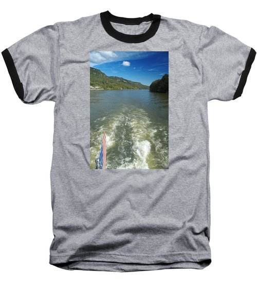 A Wake, River And Sky Col Baseball T-Shirt