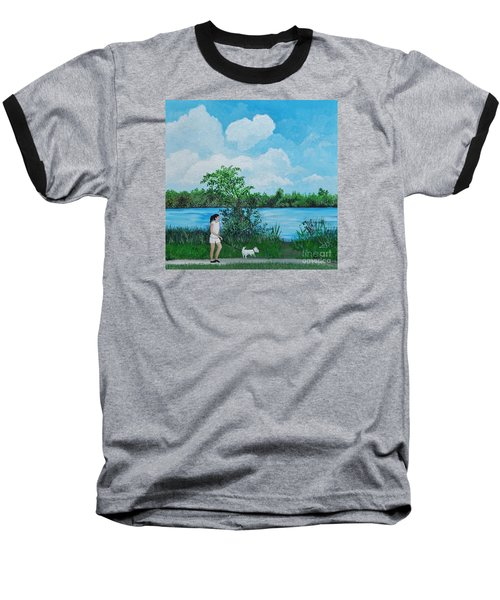A Walk Along The River Baseball T-Shirt