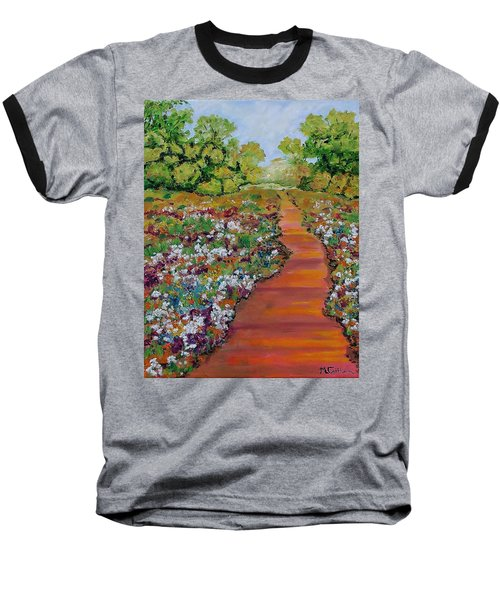 A Walk In The Park Baseball T-Shirt by Mike Caitham