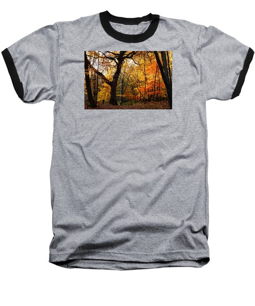 Baseball T-Shirt featuring the photograph A Walk In The Woods 3 by Steven Clipperton