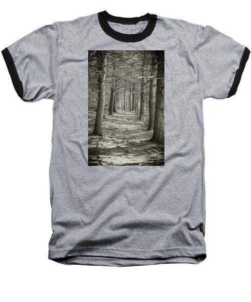 A Walk In Walden Woods Baseball T-Shirt by Ike Krieger
