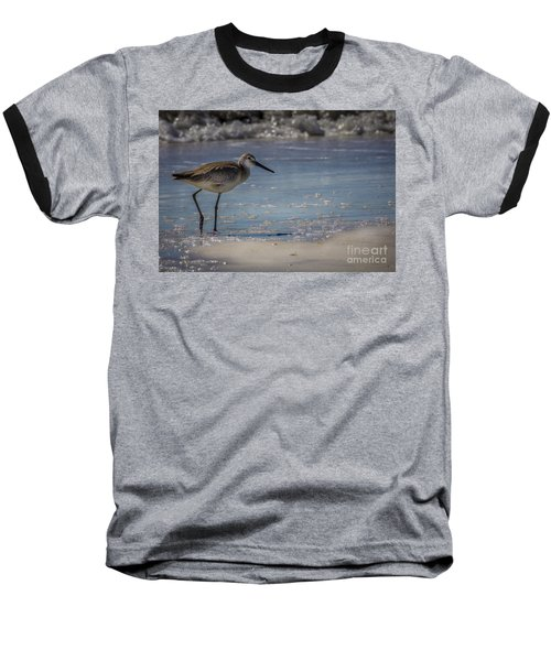 A Walk On The Beach Baseball T-Shirt by Marvin Spates