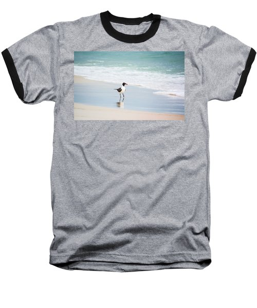 A Walk On The Beach Baseball T-Shirt by Shelby  Young