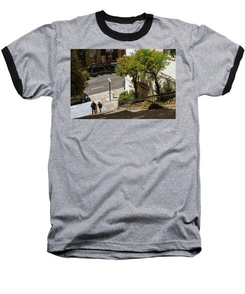 A Walk Up Joice St Steps Baseball T-Shirt