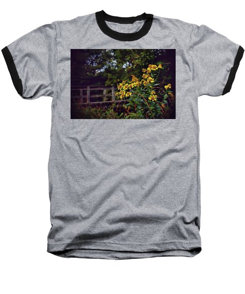 Baseball T-Shirt featuring the photograph A Walk With Wildflowers by Jessica Brawley