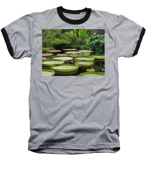 Baseball T-Shirt featuring the photograph A Water Garden by Byron Varvarigos