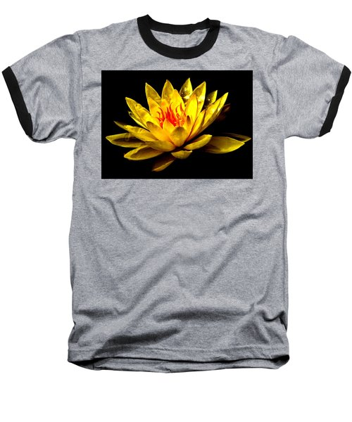 A Water Lily Baseball T-Shirt