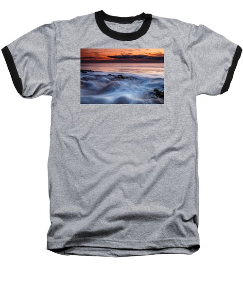A Wave At Sunset Baseball T-Shirt
