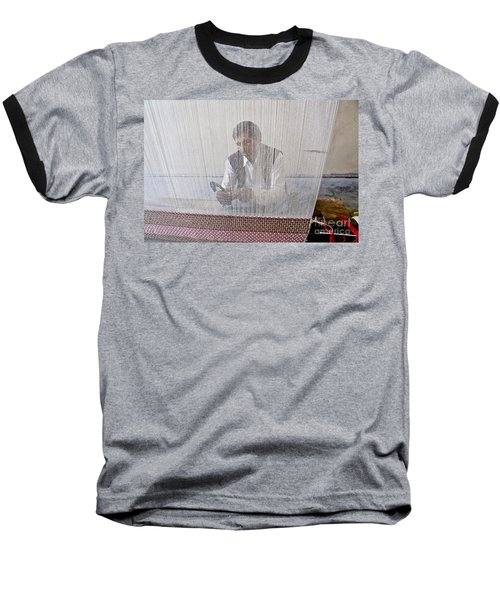 A Weaver Weaves A Carpet. Baseball T-Shirt