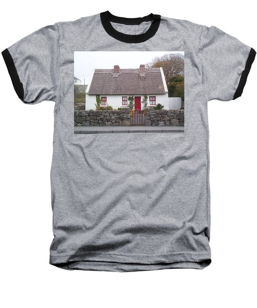Baseball T-Shirt featuring the photograph A Wee Small Cottage by Charles Kraus