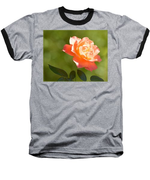Baseball T-Shirt featuring the photograph A Well Lighted Rose by AJ Schibig