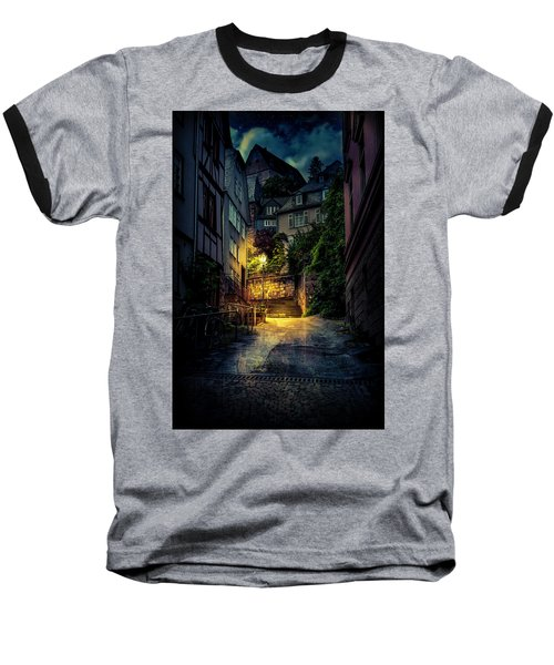 Baseball T-Shirt featuring the photograph A Wet Evening In Marburg by David Morefield