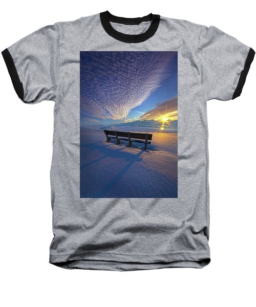 Baseball T-Shirt featuring the photograph A Whole World In Front Of Us by Phil Koch