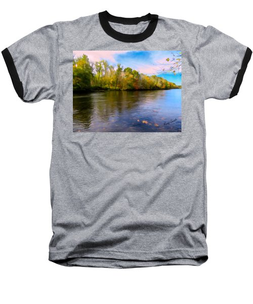 A Wide Scenic View Of Shetucket River. Baseball T-Shirt
