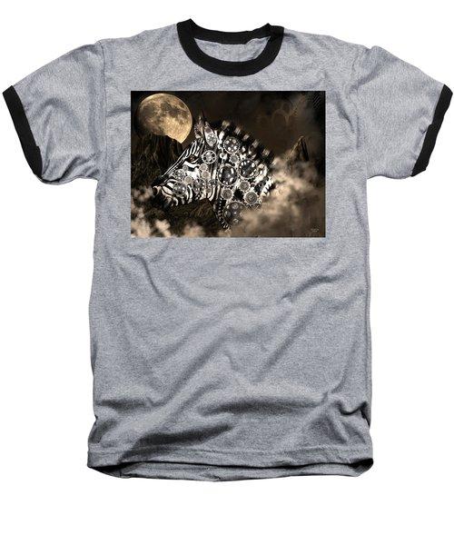 A Wild Steampunk Zebra Baseball T-Shirt