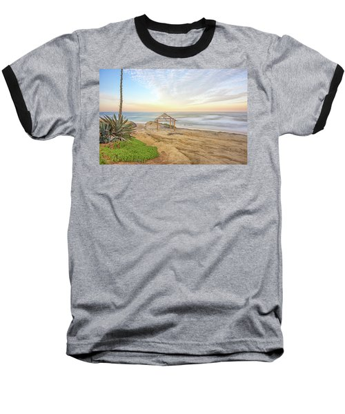 A Windansea Morning Baseball T-Shirt by Joseph S Giacalone