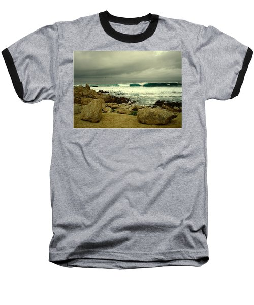 Baseball T-Shirt featuring the photograph A Winter Day At The Beach by Joyce Dickens