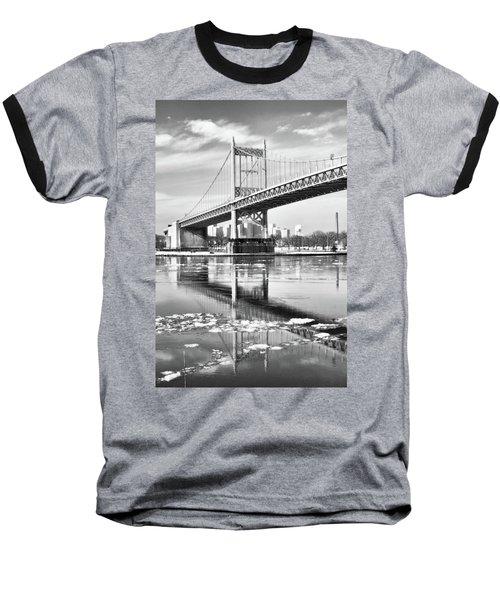 A Winter Portrait Of The Triboro Bridge Baseball T-Shirt