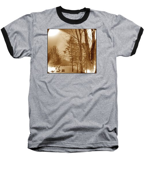 A Winter Scene Baseball T-Shirt by Skyler Tipton