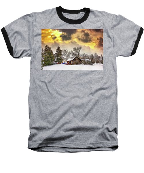 A Winter Sky Baseball T-Shirt