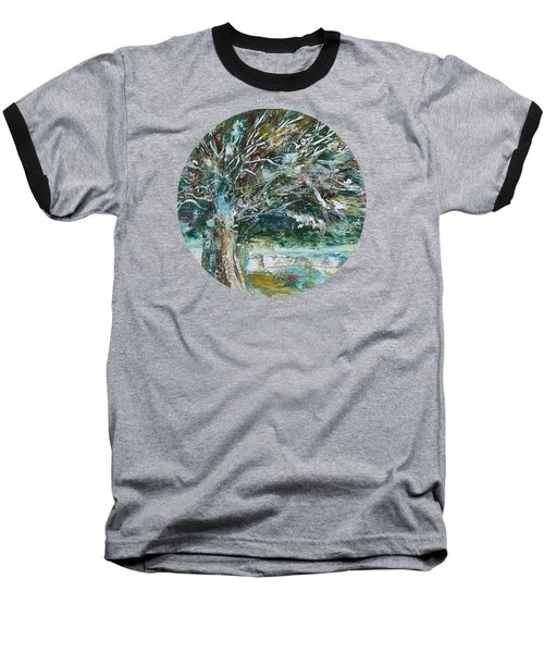 A Winter Tree Baseball T-Shirt by Mary Wolf