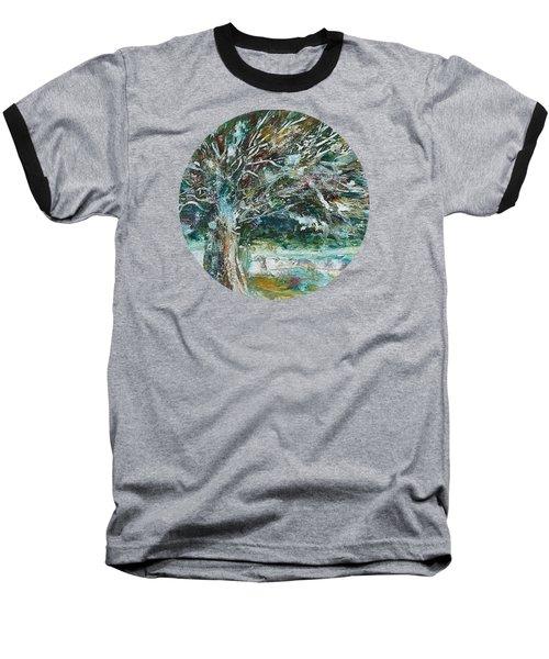 A Winter Tree Baseball T-Shirt by Mary Wolf