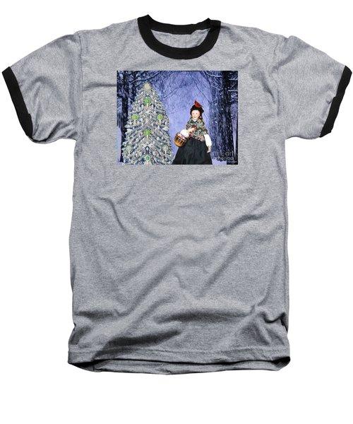 A Winter Walk Baseball T-Shirt by Lyric Lucas