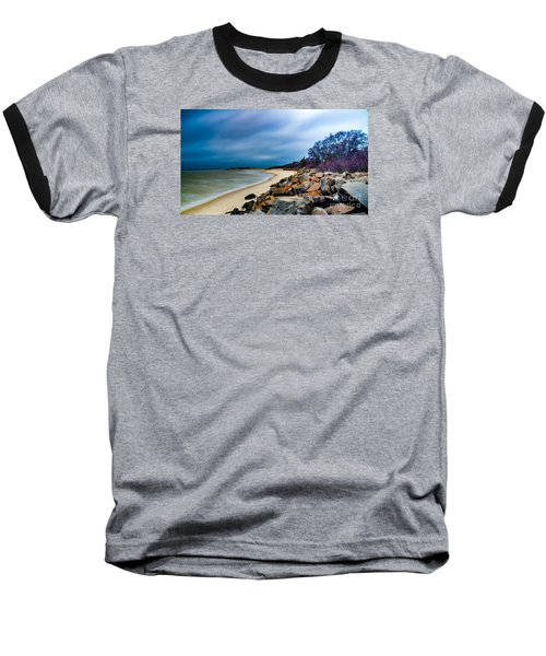 A Winter's Beach Baseball T-Shirt